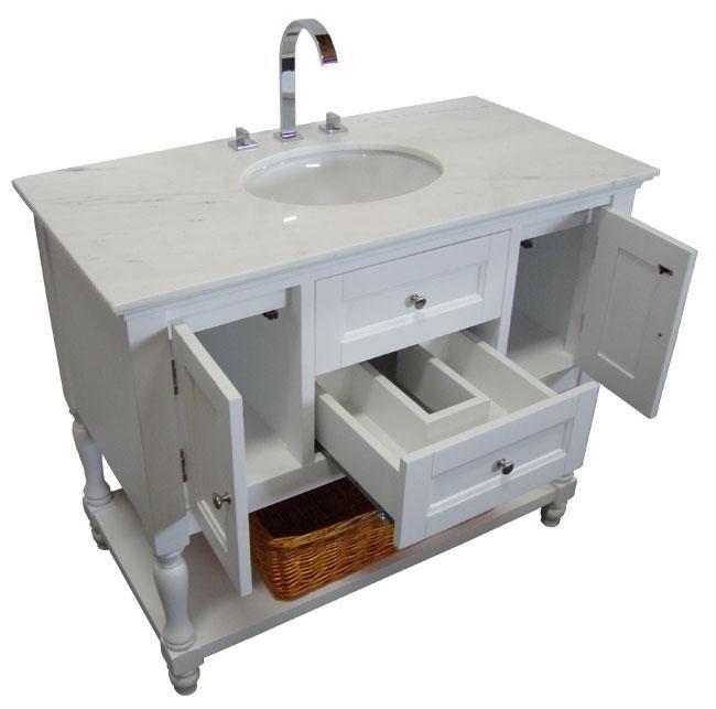Single Vanity Cabinet White Shaker Westwood Single 42 Inch Usa Made Plantation Style