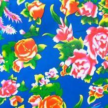 Tissu Chinois Pivoines Bleu
