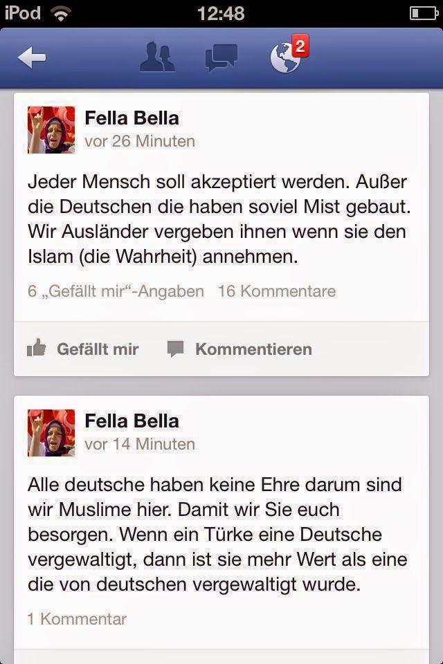 Halbpfosten oder doch Vollpfosten?: Muslimenpost Manchmal zeigen sie der Welt ganz offen ihr wahres Gesicht, ihr müsst nur hinschauen!!!