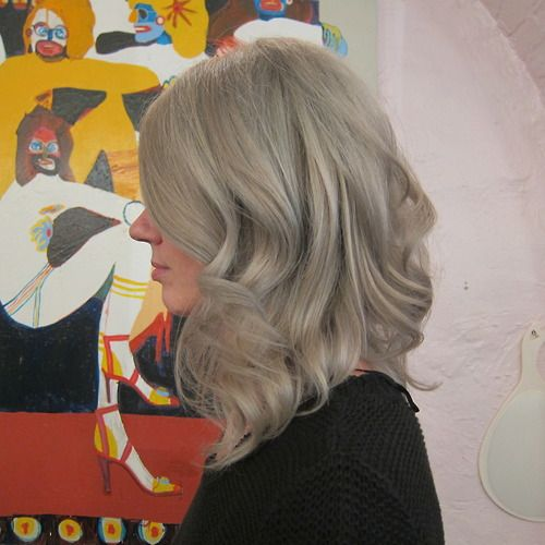 Gray blonde by Sarah at Seagull Hair Salon NYC