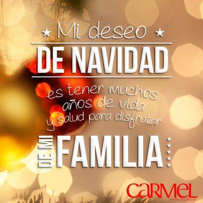 Mi deseo de navidad es tener muchos años de vida y salud para disfrutar de mi familia.