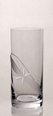 Sklenička na míchané nápoje * brus mašle, český křišťál * Bohemia Crystal CZ.