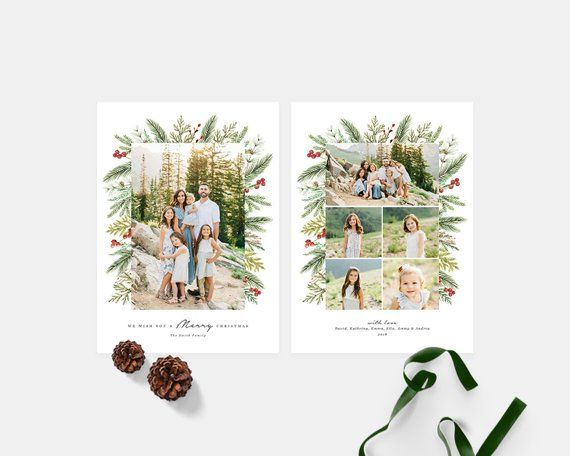 Christmas Card Photoshop Template Holiday Photo Card Etsy Christmas Card Photoshop Christmas Card Template Holiday Photo Cards
