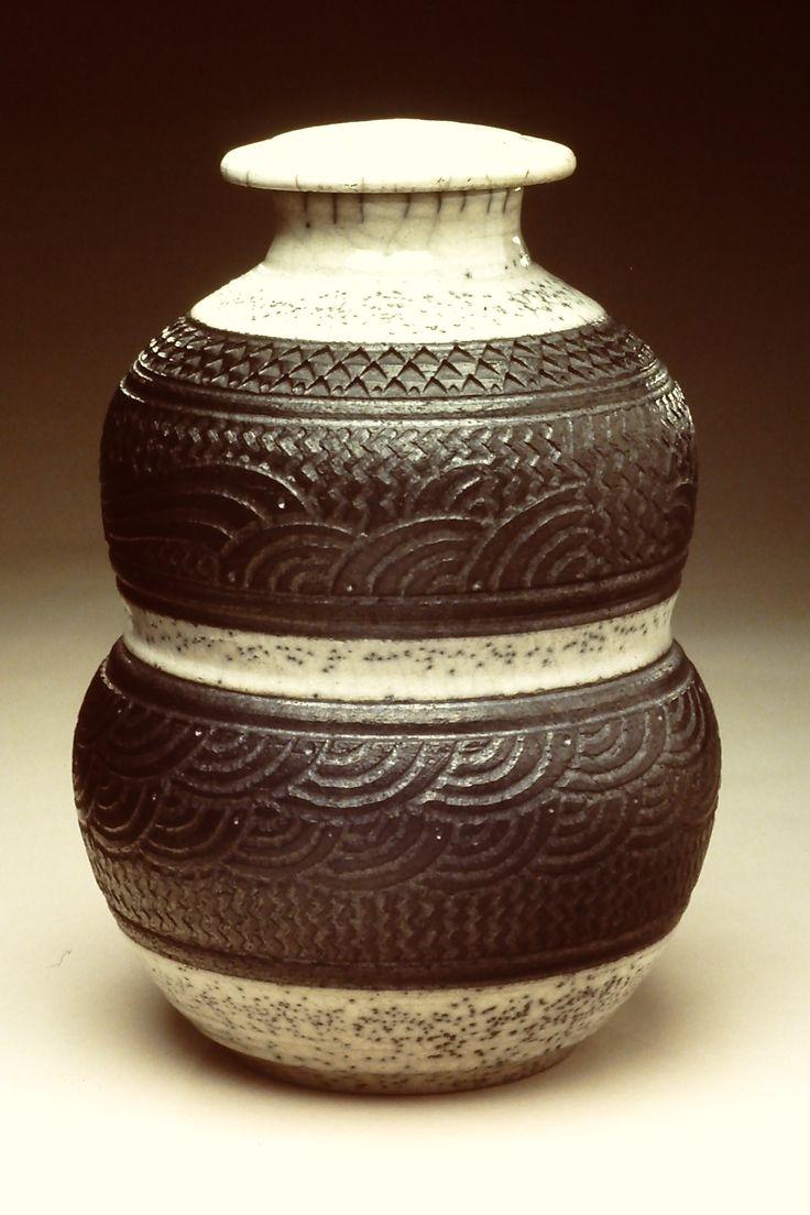 Black & White Designed Pot, ©2012, Charles Smith.Charles Smith, Art Pict, Design Pots, Artists Work, Beautiful Pottery, Studios Potter, Black White, Amazing Pottery, Smith Pottery