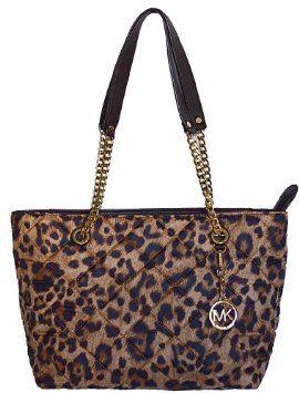 mmm...yummy bag for fall!  Michael Kors Leopard Large Jet Set Chain Item EW Tote Bag Shoulder Handbag Purse