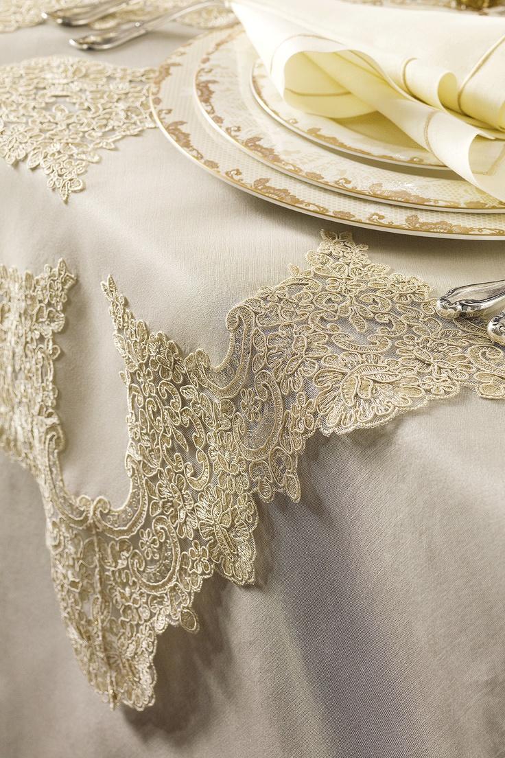 Romantic and Chic, also elegant DANTELL Tablecloths, napkins, place mats... #dantell #dantellbrand #hometextile #tablecloth #napkins #placemats #idea #fashion #design