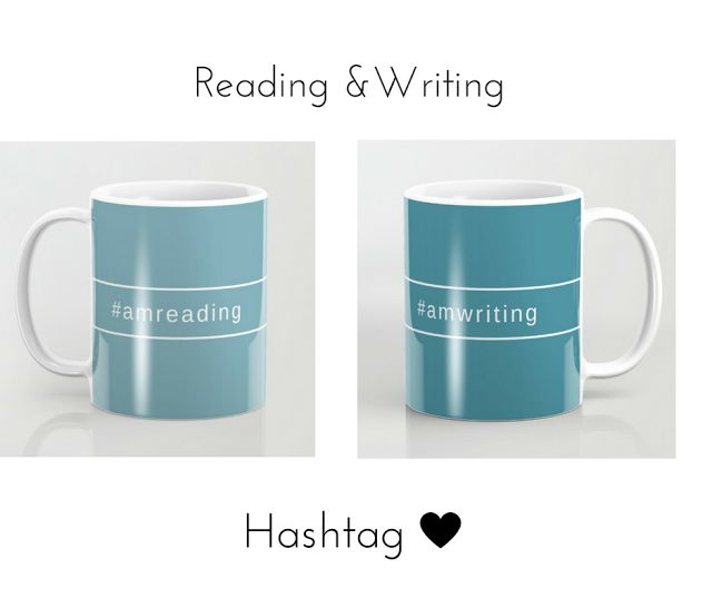 This design available to all those readers and writers and twitter fans!\ Coffee mug and tote bag from Society6.