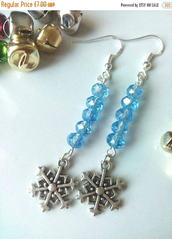 CIJ SALE Crystal Snowflake Earrings, Christmas Earrings, Gift For Her, Snowflake Jewelry, Festive Earrings, Christmas Jewellery by VectorCoastUK on Etsy