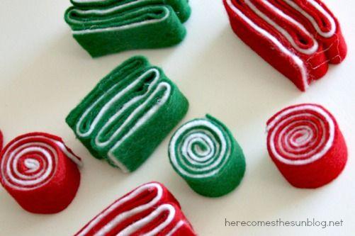 DIY Felt Ribbon Candy