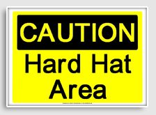 free printable hard hat area osha  sign -  Workshop of Wonders VBS #firstpresorangeburgvbs