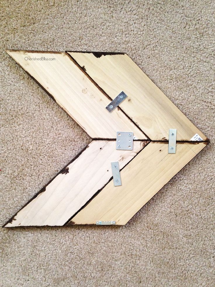 These arrows will compliment any style of decor, and can be painted/stained to match any color scheme!! Make your own with this simple wooden arrow tutorial