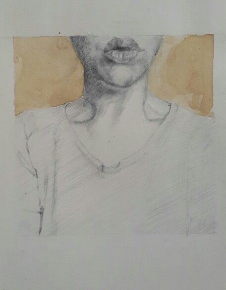 Pout, pencil and coffee on paper