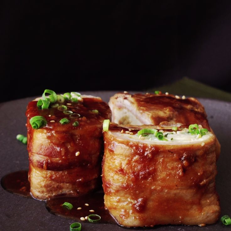 Just because it's tofu, doesn't mean it has to be vegetarian. Wrapped in crispy bacon, these tofu pouches are stuffed with even more flavor.