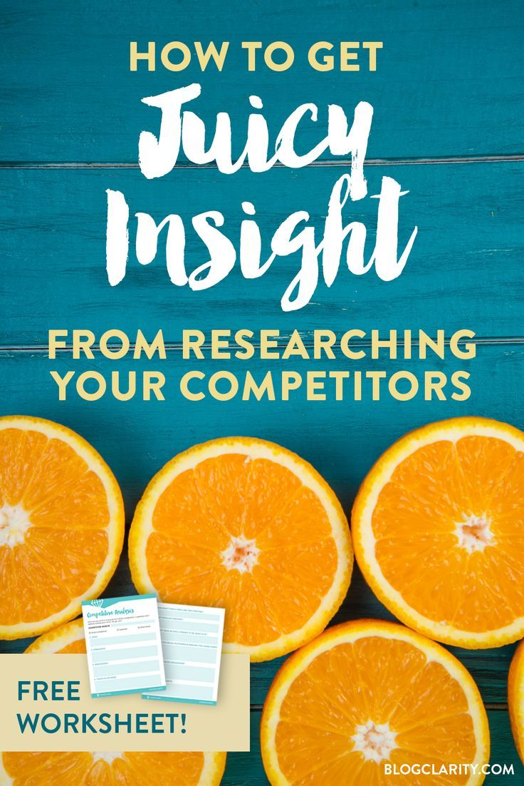 Are you an entrepreneur? Run your blog as a business? Then you need to try this activity: take a close look at your competition. Here's how to do a competitive analysis + a FREE WORKSHEET! via @MelACulbertson