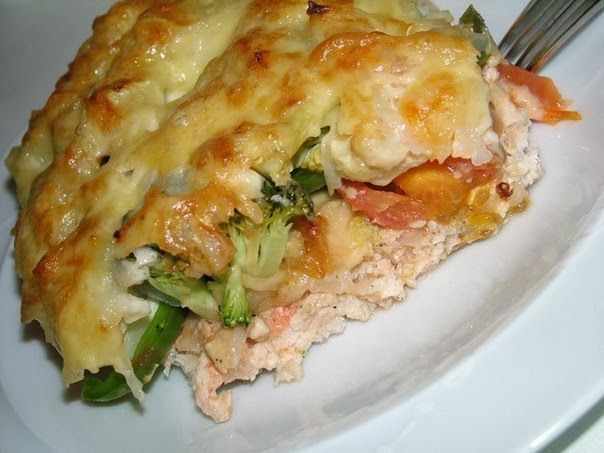 Шустрый повар.: Запеканка из овощей и куриного фарша