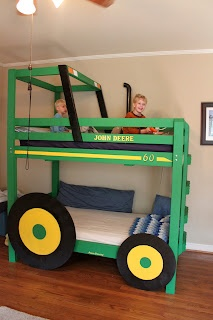 @Kathleen S - I bet Grandpa Bauer could build this for Lucas. :) Tractor Bunk Beds! | The Rucker Rendezvous