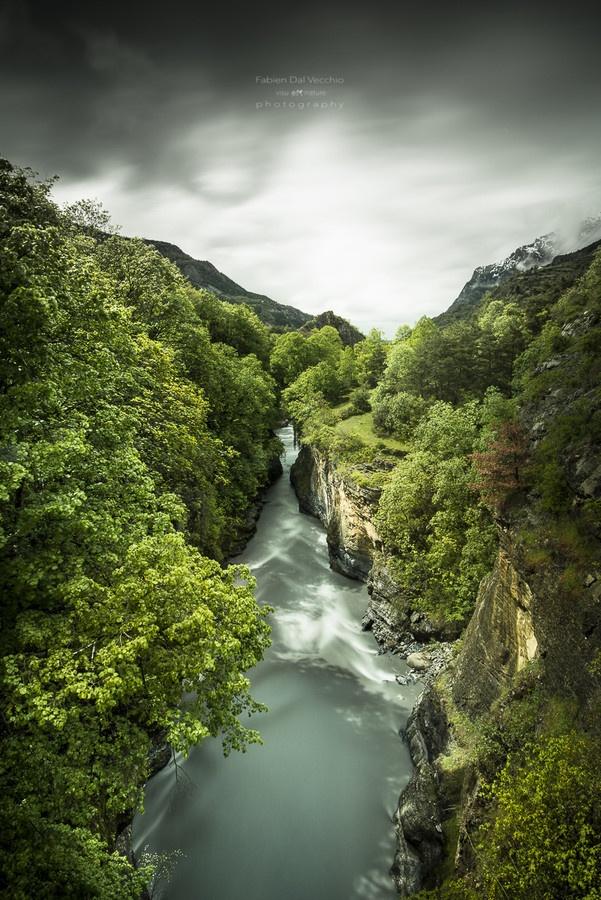 La rivière Ubaye - Le Lauzet