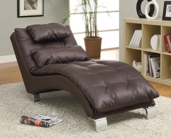 Furniture U0026 Design :: Living Room Furniture :: Sofas And Sets :: Chaise  Loungers :: Dark Brown Leather Like Vinyl Upholstered Tufted Design Chaise  Lounger ...