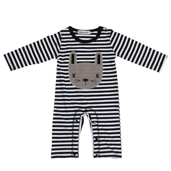 Black and White Striped - Kitty Baby Suit!