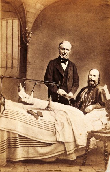 Garibaldi after being wounded on the Aspromonte Massif - Giuseppe Garibaldi -
