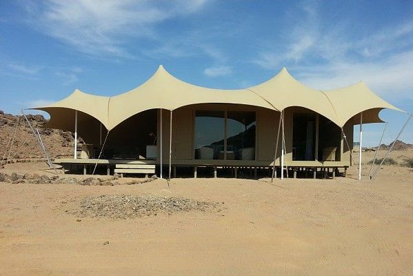#WildernessSafaris - Hoanib #SkeletonCoast Camp is almost ready to welcome its first guests on 1 August 2014  - all structures are complete as can be seen here.