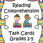Welcome to Educating Everyone 4 Life!  This set includes 46 reading task cards with comprehension questions. These task cards include questions with the following objectives: Inference Sequencing Details Main Idea Comprehension Skills