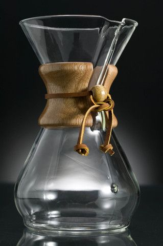 chemex hand-blown drip coffee maker