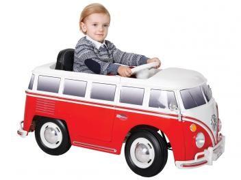 Carro Elétrico Kombi - Bandeirante. +3 anos. Rodas em Termoplásticos super resistente. Bateria 6v recarregável. 2 marchas frente e ré. Buzina, farol. Retorvisor.