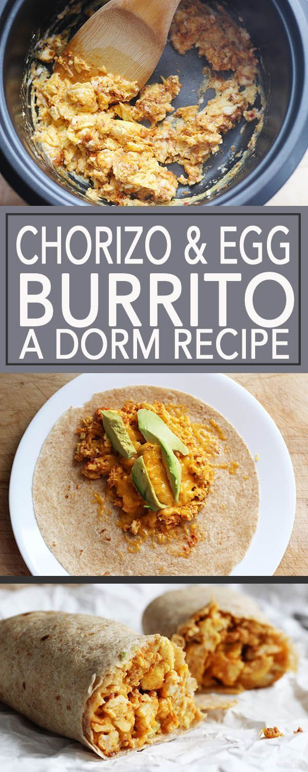 An authentic Tex-Mex breakfast burrito you can cook in a rice cooker. Perfect for college students who live in the dorm and new cooks too! | FusionCraftiness.com | college cooking | dorm recipe | college recipe | rice cooker recipe | easy recipe | college | dorm | Cinco de Mayo