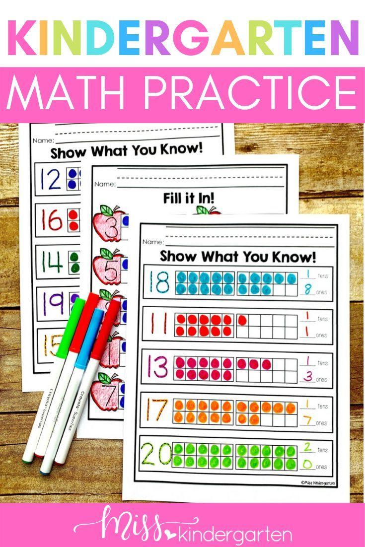 Fun Math Worksheets For Kindergarten Fun Math Worksheets Kindergarten Math Practice Kindergarten Math Activities [ 1102 x 735 Pixel ]