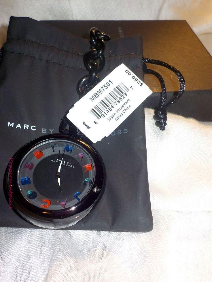 NWT Marc By Marc Jacobs Black Pocket Watch Bag Charm MBM7501 SALE grab one #MarcbyMarcJacobs #Fashion
