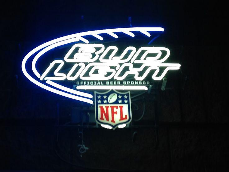 Nfl Bud Light Neon Beer Sign Sport S Pinterest Neon