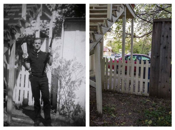 Behind The West Neely House Where Oswald Took This Infamous Photo | Haunting Photos Of JFK Assassination Landmarks, Then And Now