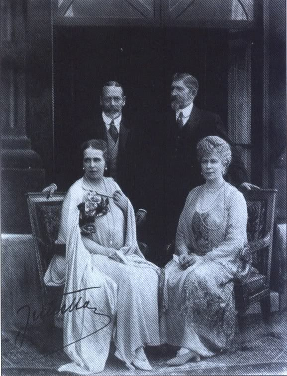 Queen Marie, Ferdinand, with King George V and Queen Mary