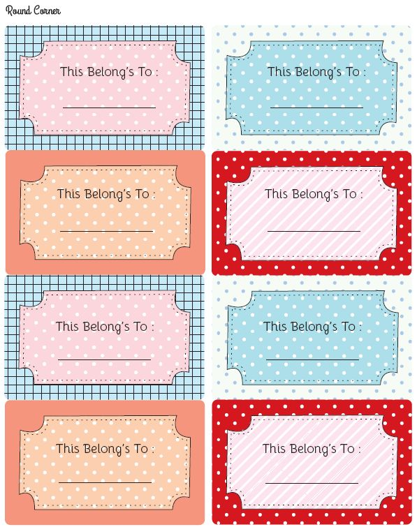 Free printable labels for your books :)