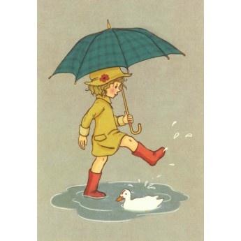 Belle & Boo 'Rainy Day' Card
