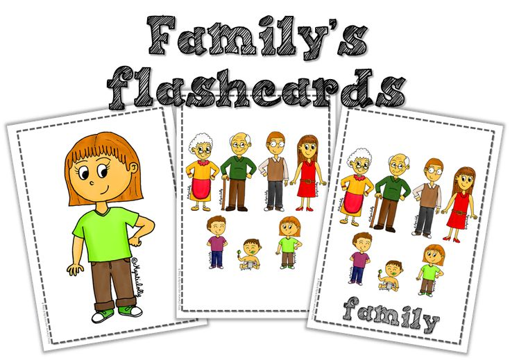 Anglais - Flashcards sur la famille - Journal de bord d'une instit' débutante