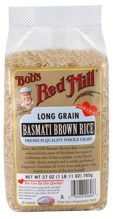 Basmati Brown Rice   More nutrients than white rice, less starchy, Low(er) GI