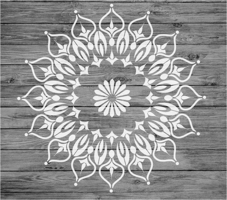 Stencil Mylar Reusable Shabby Chic Mandala Vintage Fabric