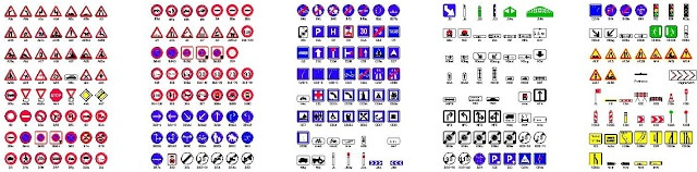 Bloc Autocad Panneaux de signalisation