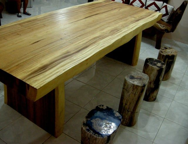 Superior Outdoor Log Furniture Made From Genuine Petrified Wood For Sale.