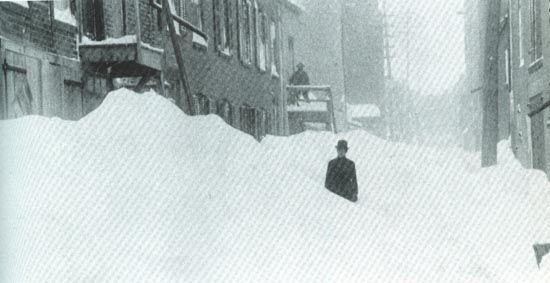 Weather Extremes : The Great Blizzard of 1888; America's Greatest Snow Disaster | Weather Underground