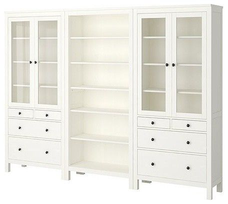 """DREAM """"built in"""" cupboards for under $1,000k?!!!     HEMNES Storage Combination traditional bookcases cabinets and computer armoires"""