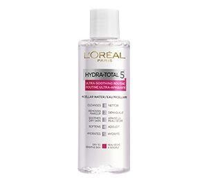 L'Oréal Paris laboratories created the HYDRA-TOTAL 5 Ultra-Soothing routine to meet the five essential skincare needs of sensitive skin. The Micellar Water traps and removes traces of makeup and impurities, revealing clean and soft looking skin that's comfortable and soothed. Micellar solution is an effective, one-step makeup remover that can be used on the face, eyes and lips.No water necessary. Suitable for sensitive skin. Removes all makeup and impurities. Dry skin is cleansed and…