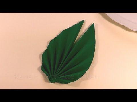 Servietten falten Ostern - Palmwedel / Blatt / Fächer