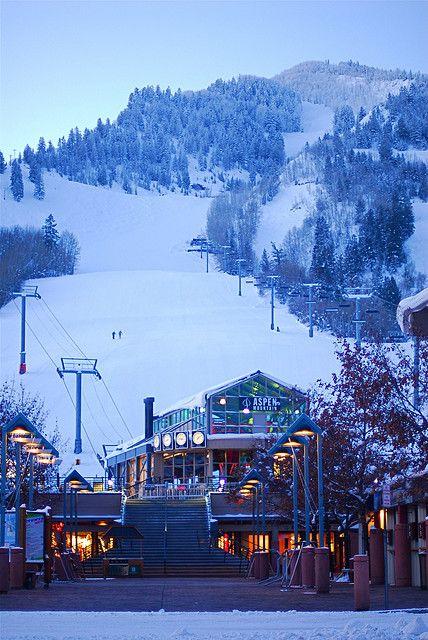 christmas mountain ski lodge