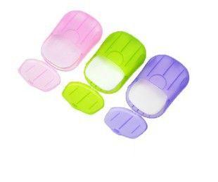 Convenient Washing Hand Bath Travel Scented Slice Sheets Foaming Box Paper Soap wholesale SP01 1pcs