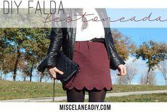 DIY Sewing   Falda Festoneada   Scalloped Skirt