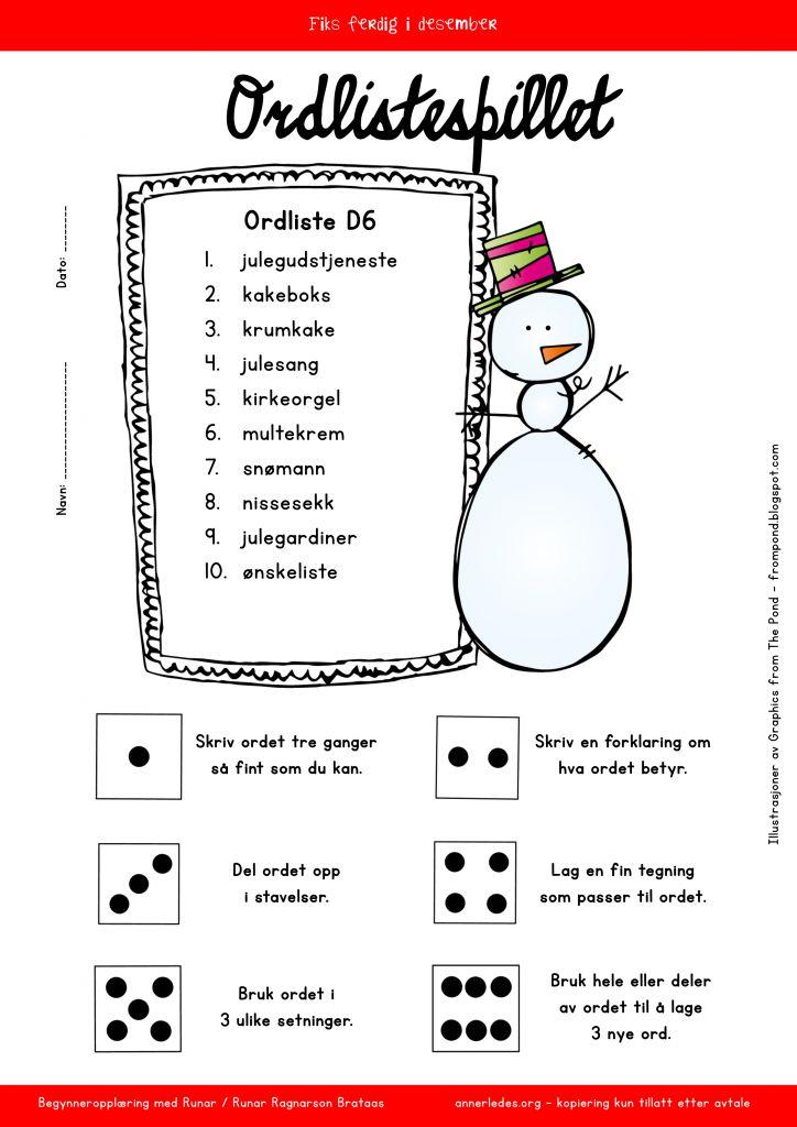 ordlistespill