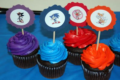 Greene Acres Hobby Farm: Sonic the Hedgehog Free Cupcake Topper Printable